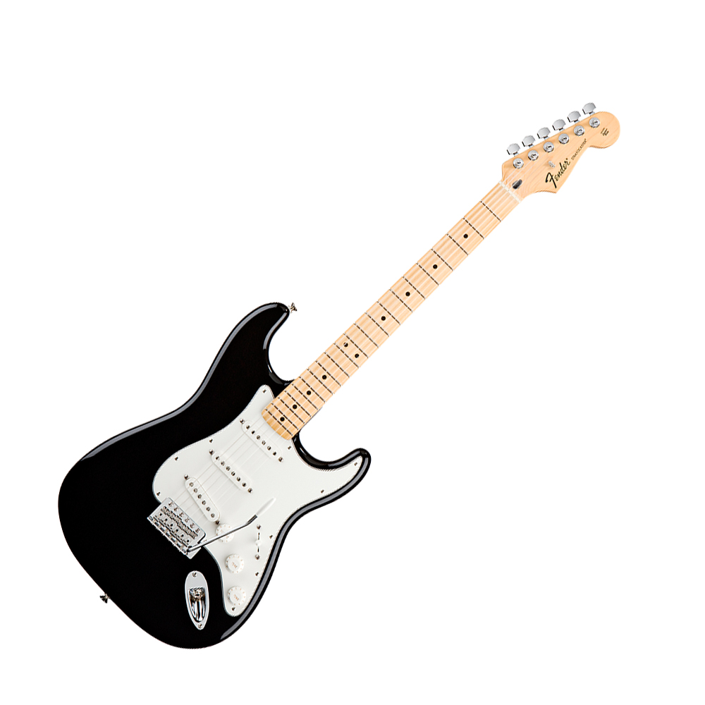 fender standard stratocaster black mn fender standard series guitars drum and guitar. Black Bedroom Furniture Sets. Home Design Ideas