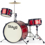 Stagg Junior Drum Kit - Red