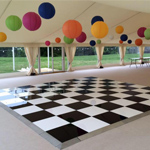 Acrylic Dance Floor 12ft x 12ft - Checkerboard