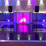 Acrylic Dance Floor 14ft x 14ft - Black Gloss