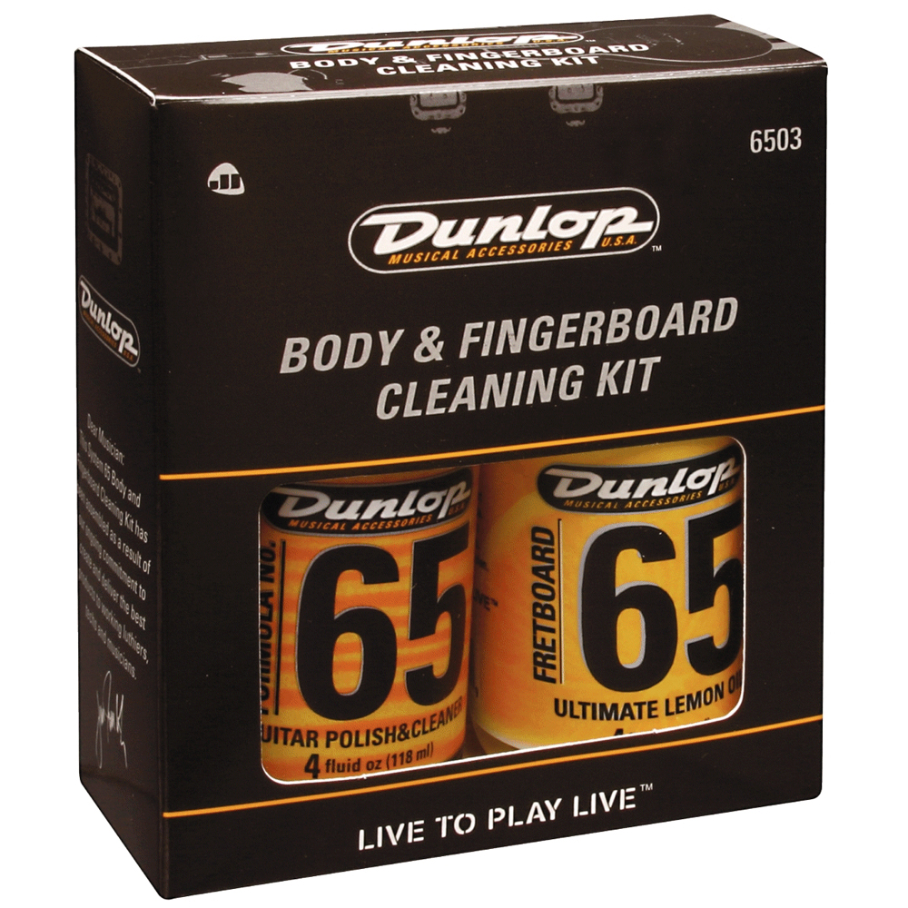 dunlop guitar body and fingerboard cleaning kit 6503 guitar care drum and guitar. Black Bedroom Furniture Sets. Home Design Ideas