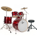 Gretsch Energy Series Rock Fusion Drumkit inc Paiste Cymbals - Red