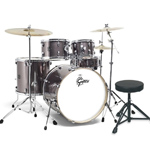 Gretsch Energy Series Rock Fusion Drumkit inc Paiste Cymbals - Grey Steel