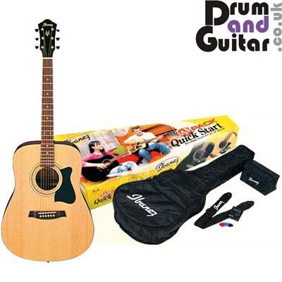 drum and guitar ibanez v50njp nt acoustic guitar pack. Black Bedroom Furniture Sets. Home Design Ideas