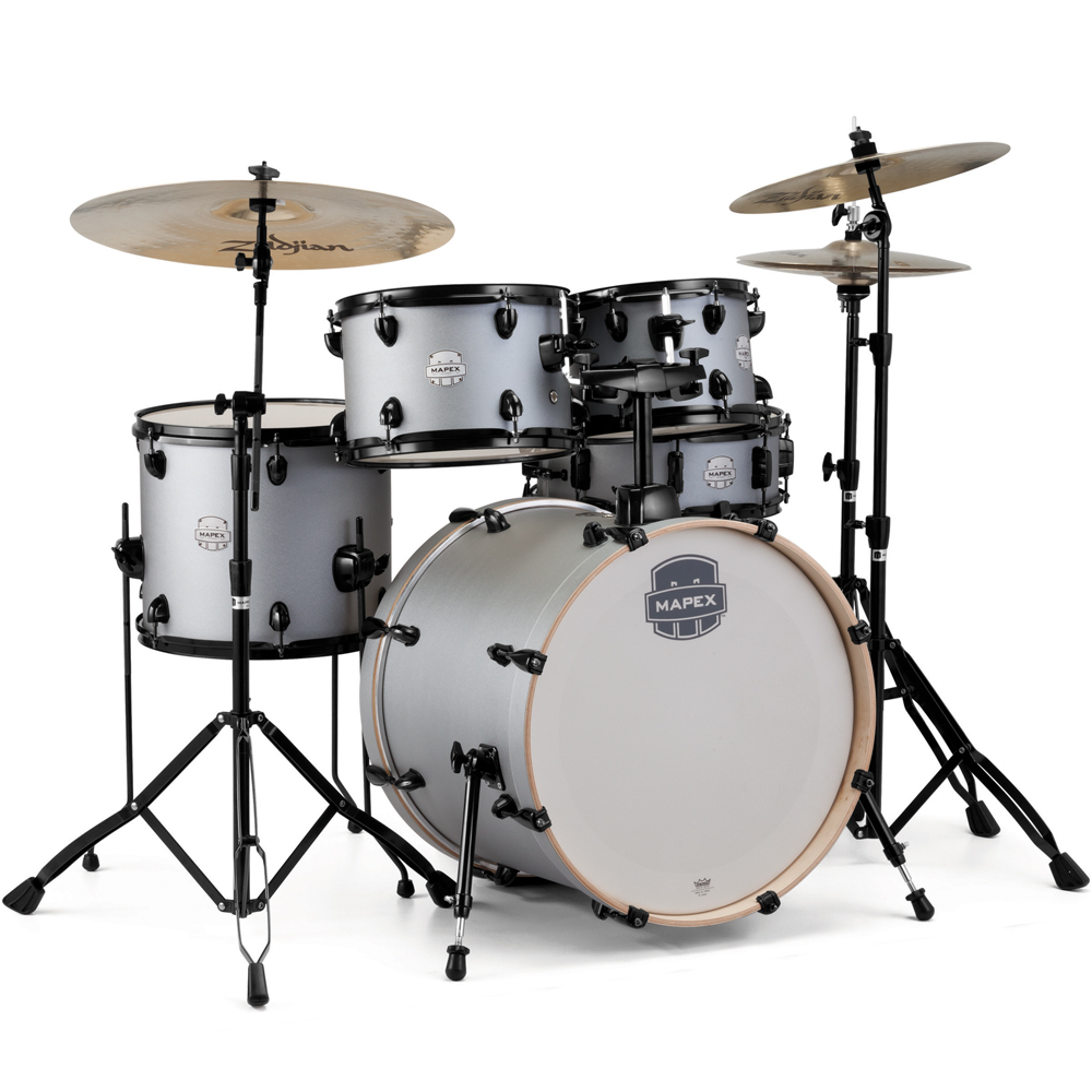 mapex drumkit 20 fast fusion iron grey st5045f ig mapex drums drum and guitar
