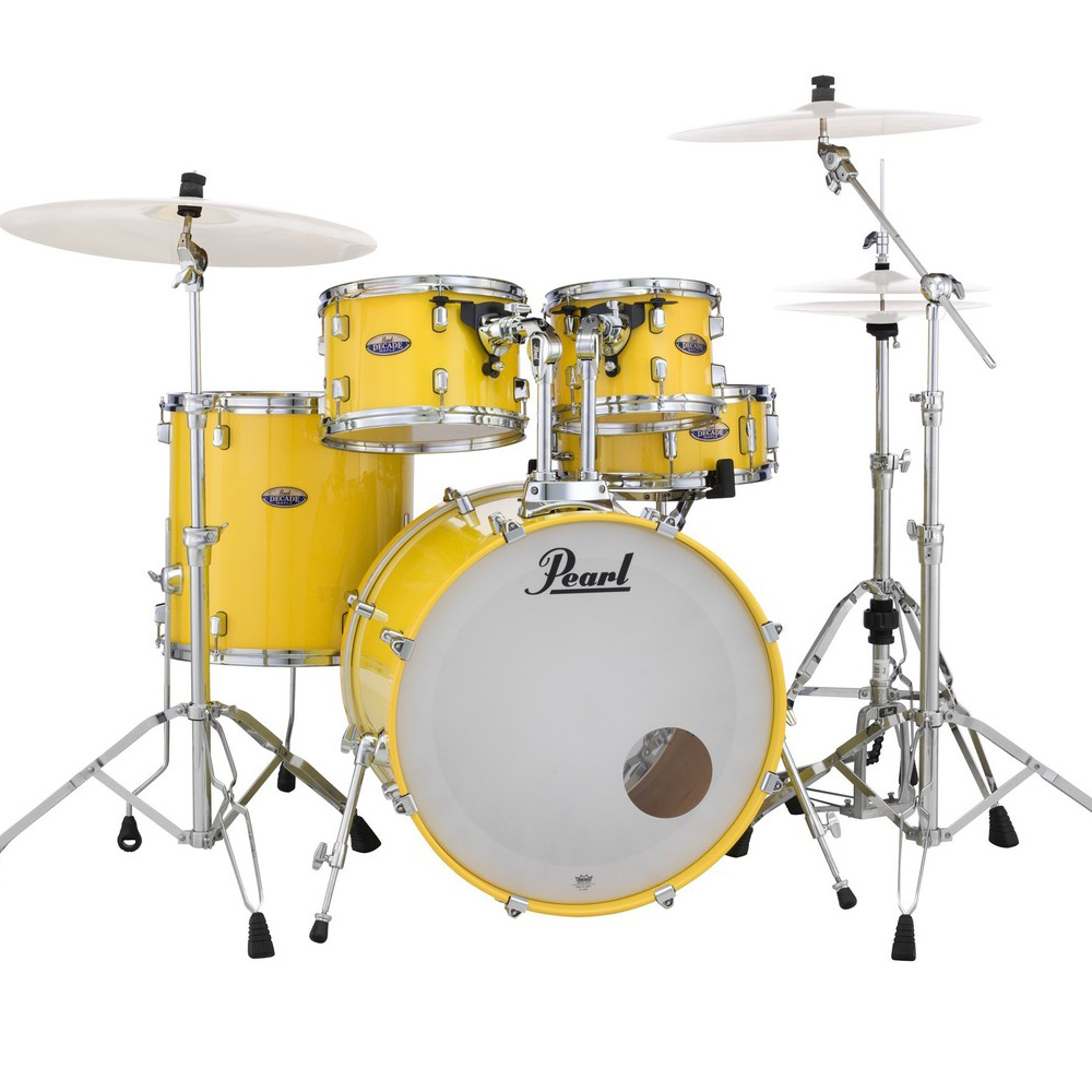 pearl decade maple drumkit dmp925s solid yellow pearl drums drum and guitar. Black Bedroom Furniture Sets. Home Design Ideas