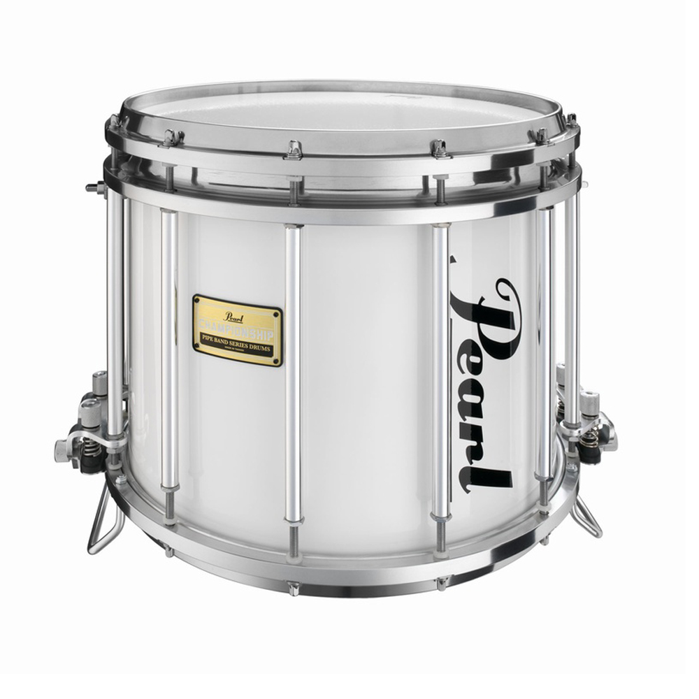 pearl medalist ffxpmd1412 pipe band snare drum arctic white pearl pipe band drums drum and. Black Bedroom Furniture Sets. Home Design Ideas