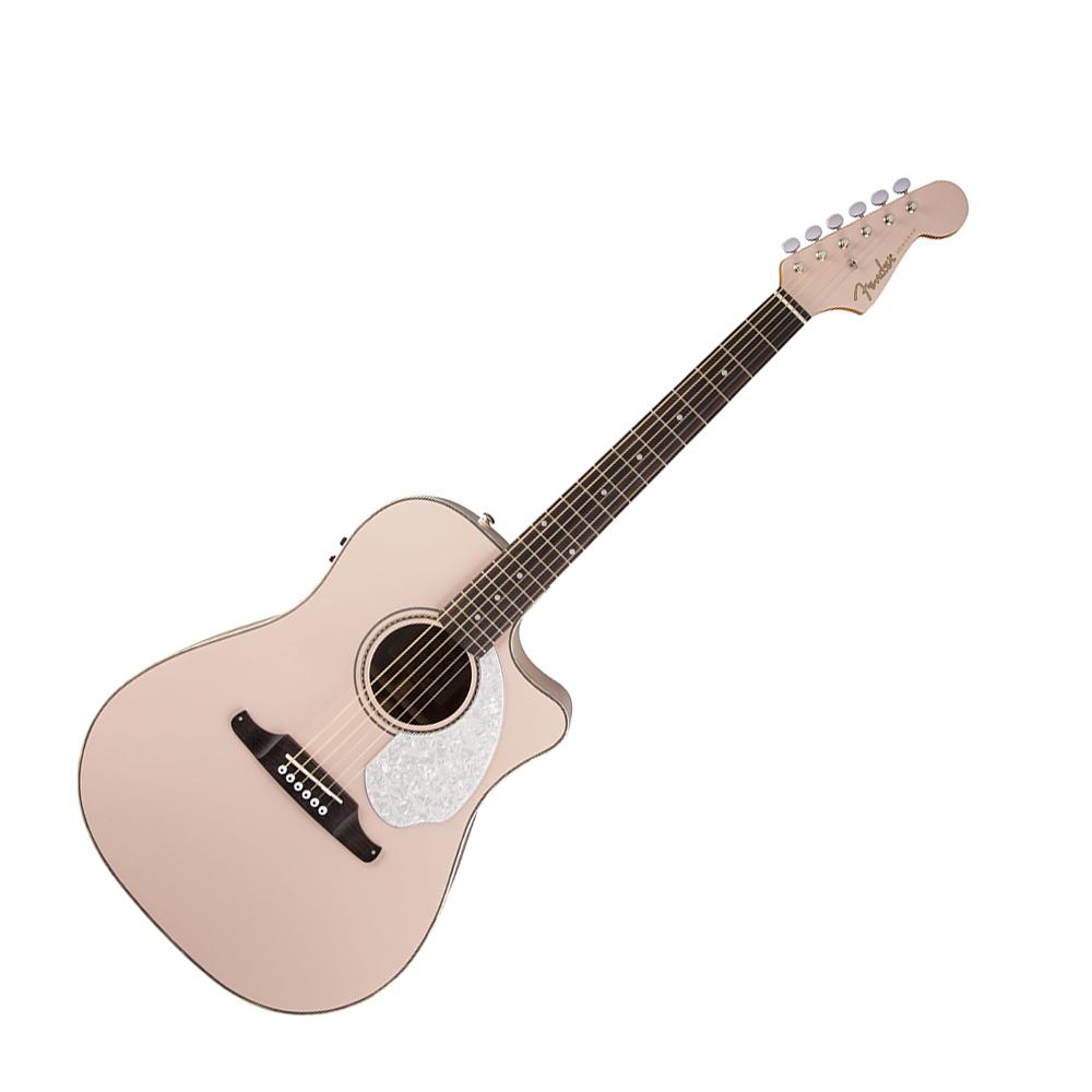 fender sonoran sce electro acoustic guitar shell pink fender electro acoustic guitars drum. Black Bedroom Furniture Sets. Home Design Ideas