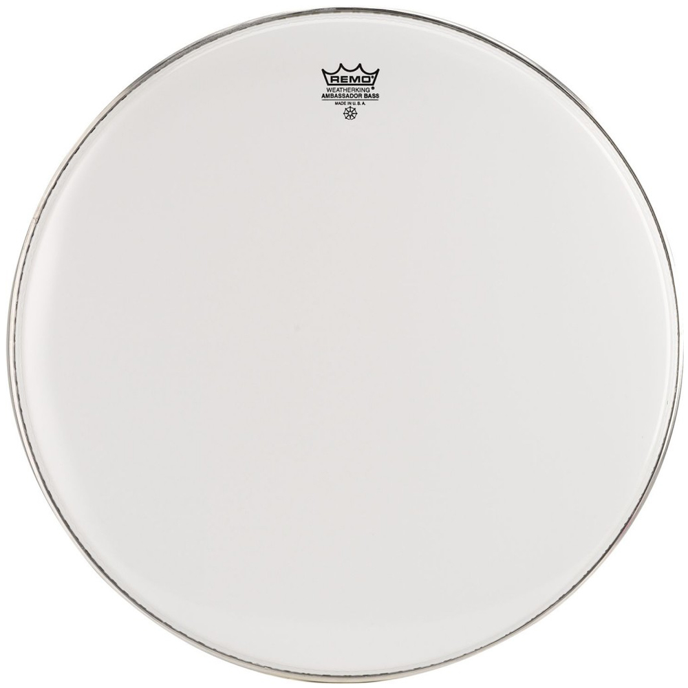 remo ambassador 24 39 smooth white bass drum head marching drumheads drum and guitar. Black Bedroom Furniture Sets. Home Design Ideas