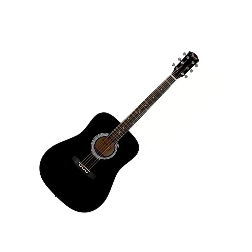 squier sa 105 black acoustic guitar fender acoustic guitars drum and guitar. Black Bedroom Furniture Sets. Home Design Ideas