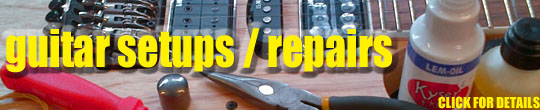 Guitar repairs at Nottingham Drum and Guitar centre