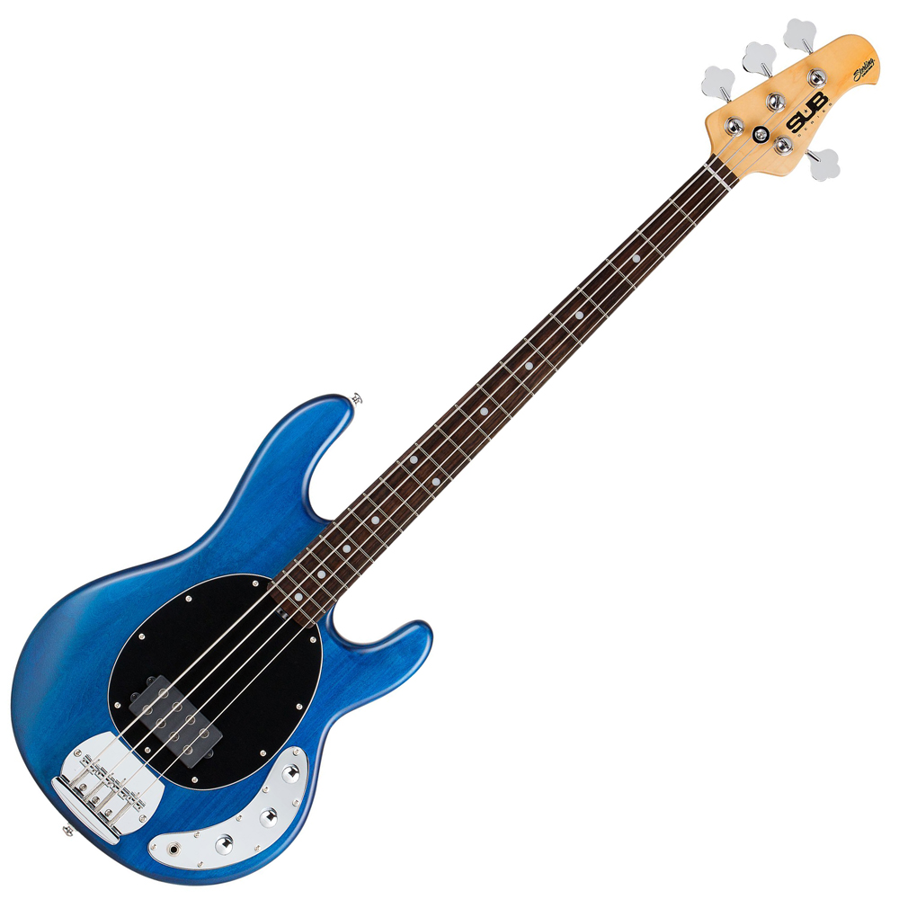sterling sub ray4 bass guitar trans blue sterling bass guitars drum and guitar. Black Bedroom Furniture Sets. Home Design Ideas