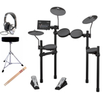 Yamaha DTX402K Electronic Drum Kit With Headphones Throne Sticks