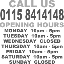 nottingham drum and guitar centre opening hours